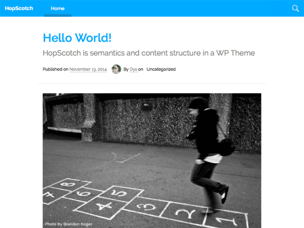 HopScotch WordPress Theme