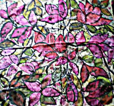 "Wild roses (35.5"" X 35.5"")  18/11/2010"
