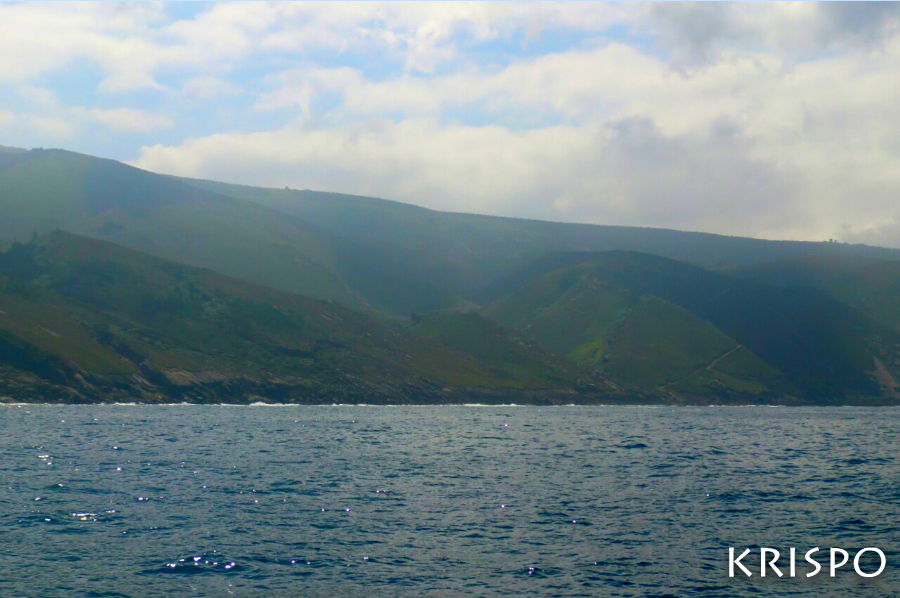 vista de jaizkibel desde el mar