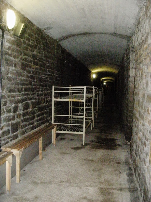 World War II air raid shelter at Cardiff Castle in Cardiff, Wales