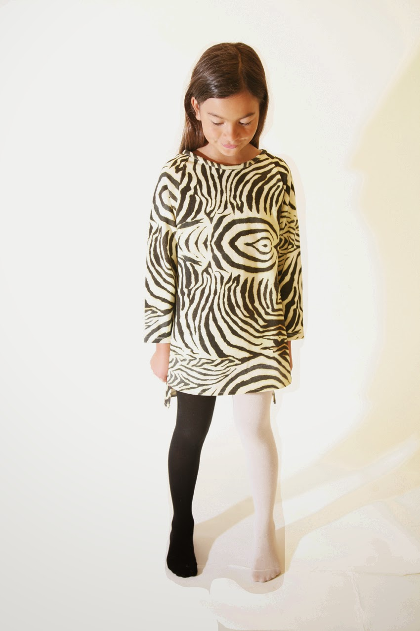 animal prints and funky two-color tights for Popupshop organic kids clothing collection autumn/winter 2014