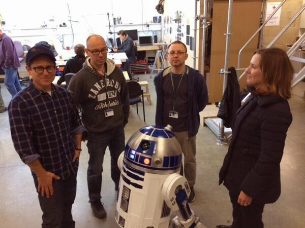 production shot from bab robot star wars 7