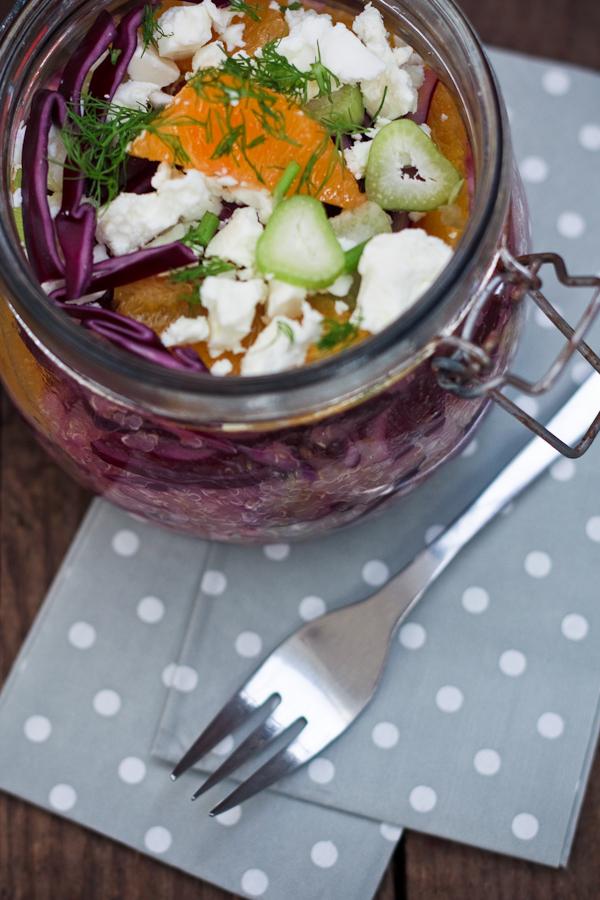 winterlicher Quinoasalat to go, Wintersalat Rezept, Zum Mitnehmen bitte Blog, Rezepte für's Büro