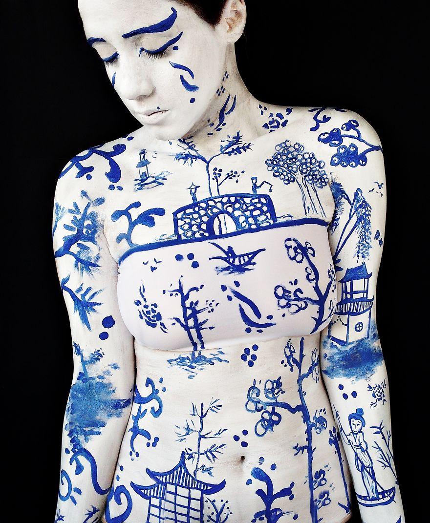 Pinturas corporais  incríveis de Caroline Patueli