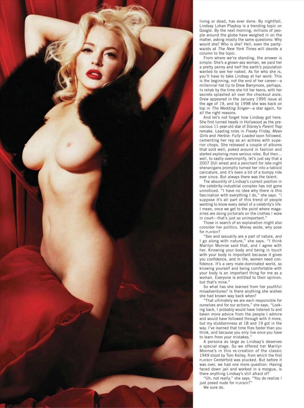 Lindsay Lohan Nude Pose 22