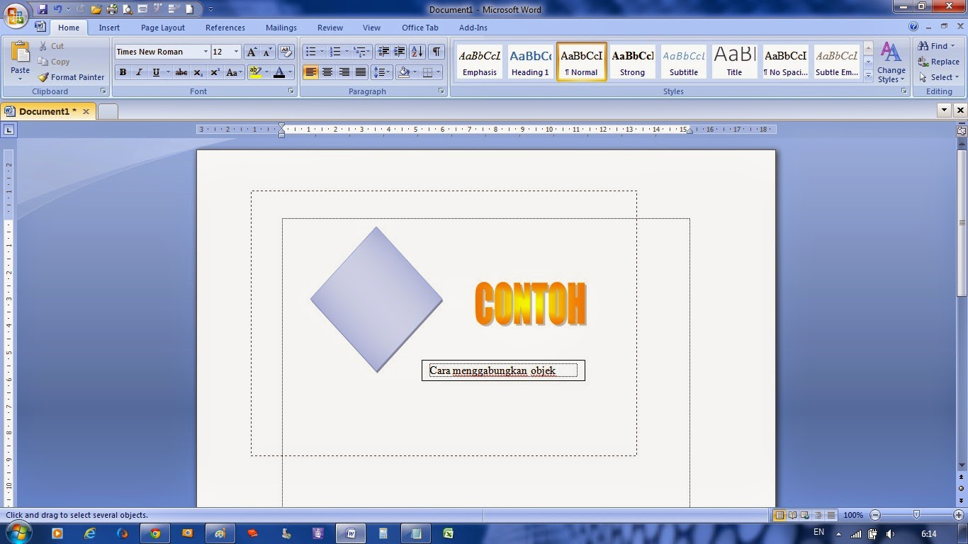 Grouping Clipart In Word 2007