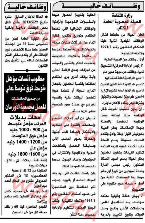 وظائف الأهرام, وظائف مصر, أخبار مصر, اليوم, الأن