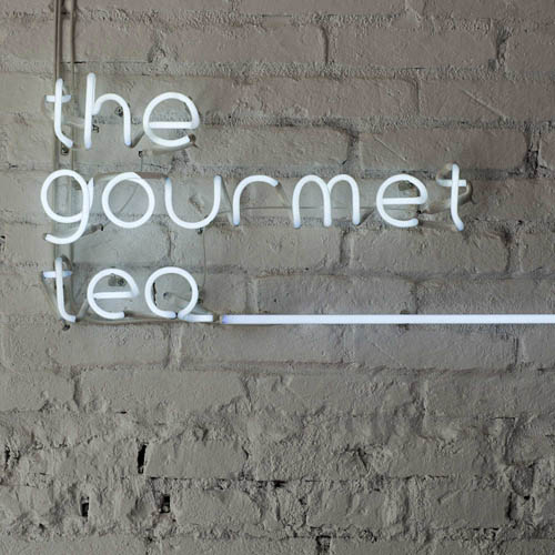 Gourmet Tea logo neon tube