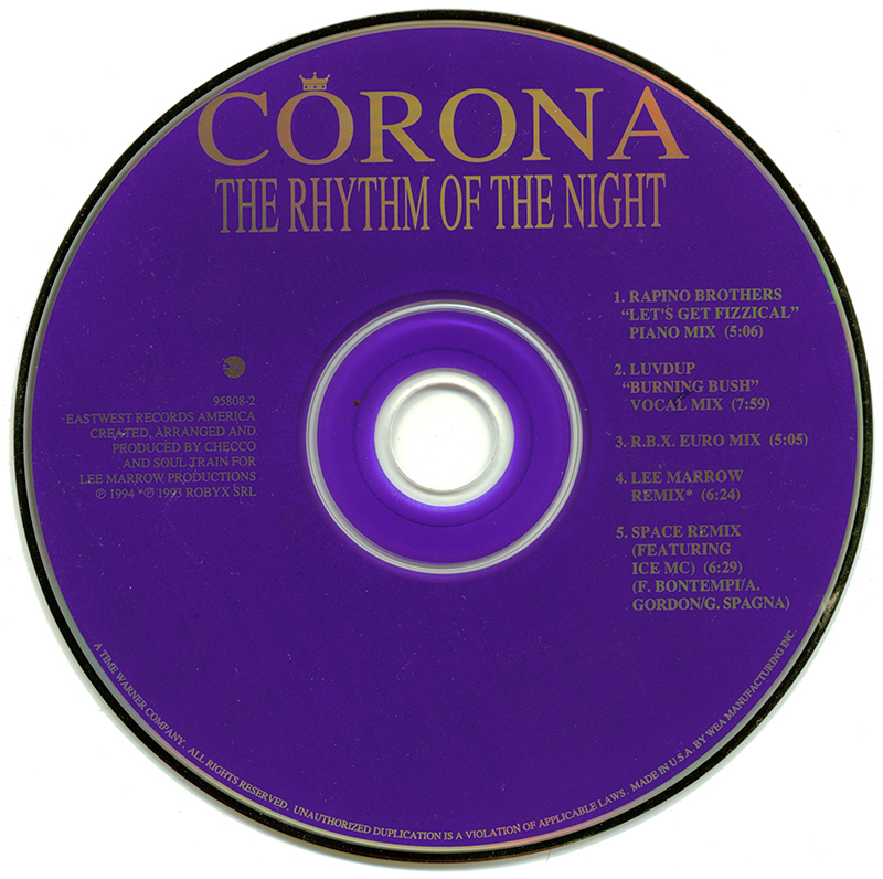 After All These Years Is Bush >> POP 'TIL YOU PUKE!: Corona - The Rhythm Of The Night - (CD Single) - 1994