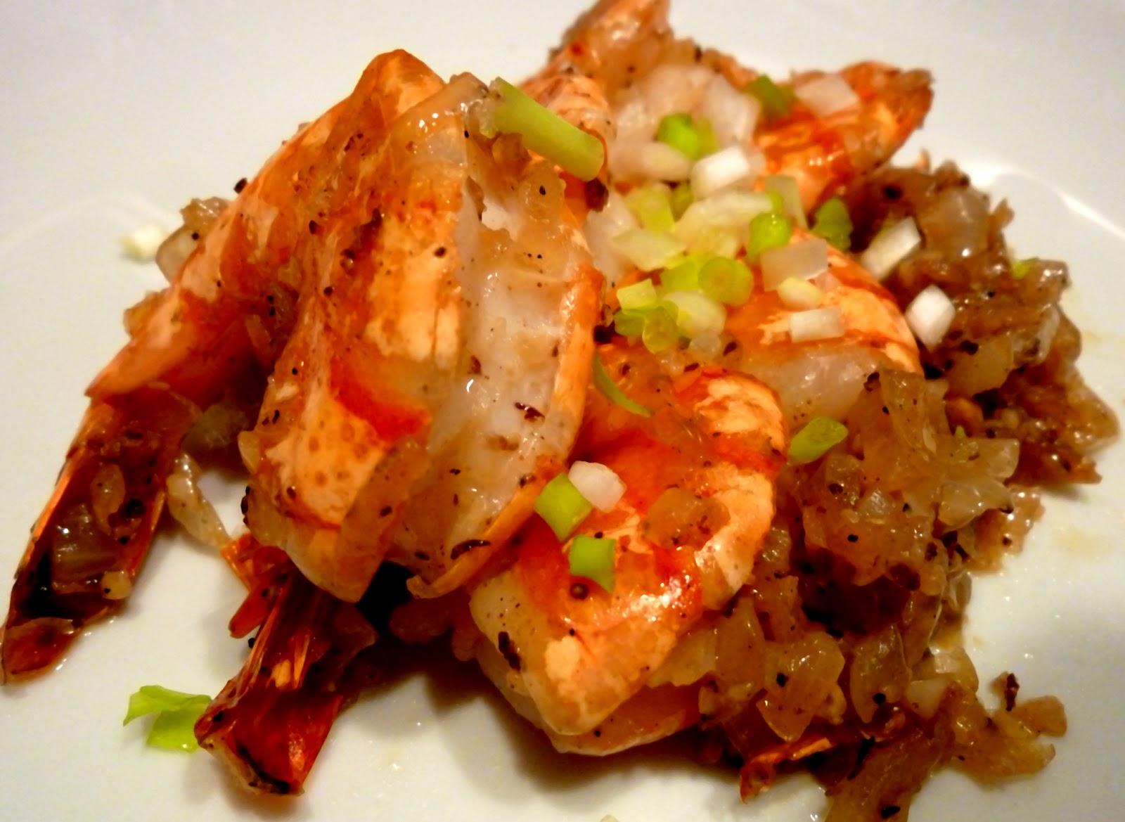 Invitations aux voyages culinaires C50 , Crevettes Sautées Au Sel \u0026 Poivre
