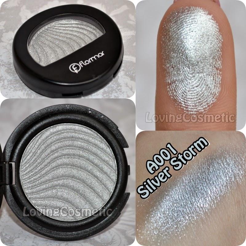 Flormar, maquillaje primavera 2015 metallic eye shadow a001 silver storm