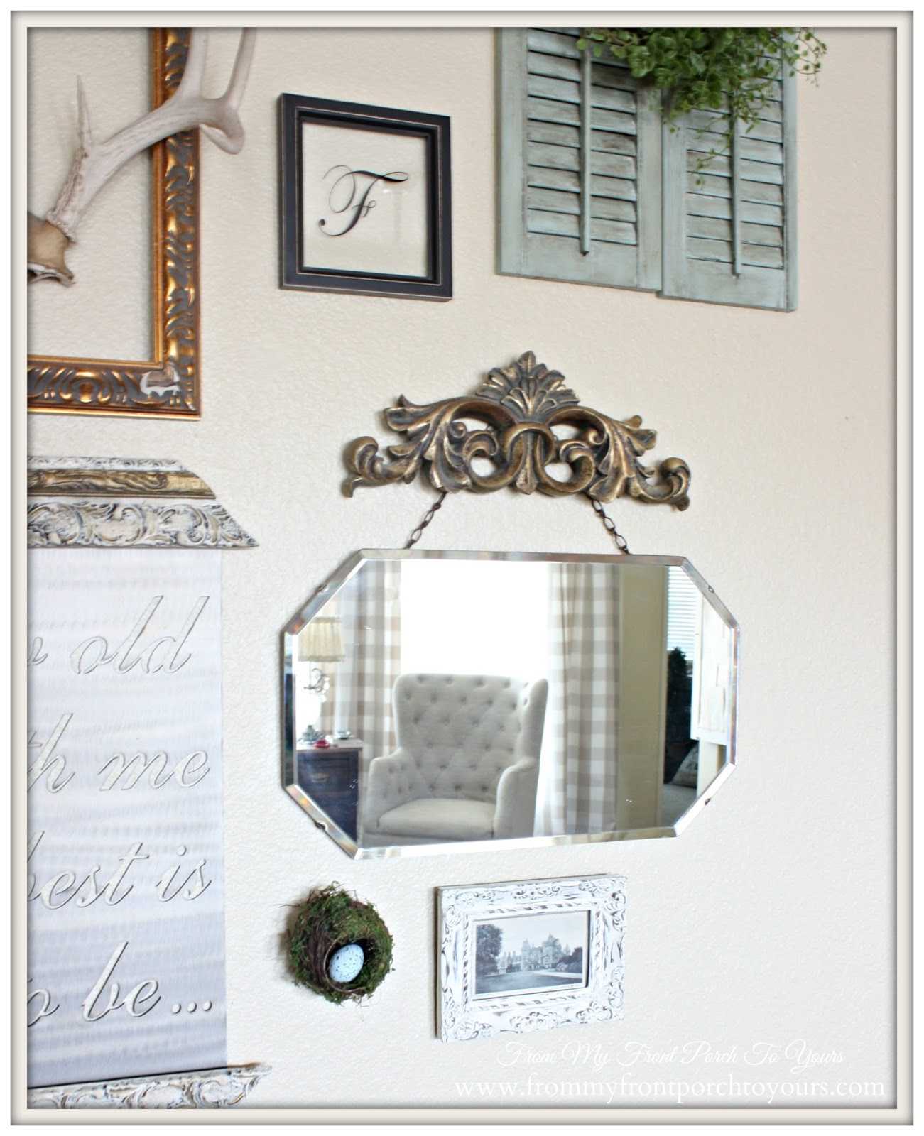 Vintage Mirror-Gallery Wall-From My Front Porch To Yours