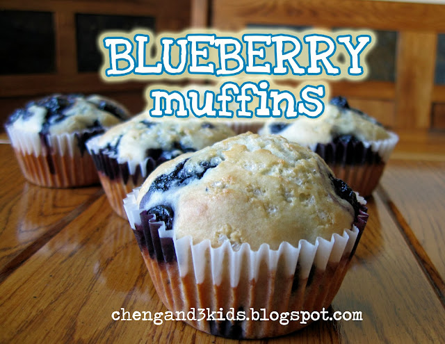 Blueberry Muffins by Cheng and 3 Kids