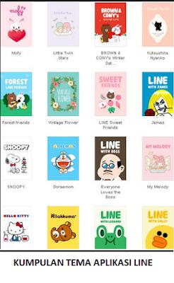 Tema Line Android dan IOS