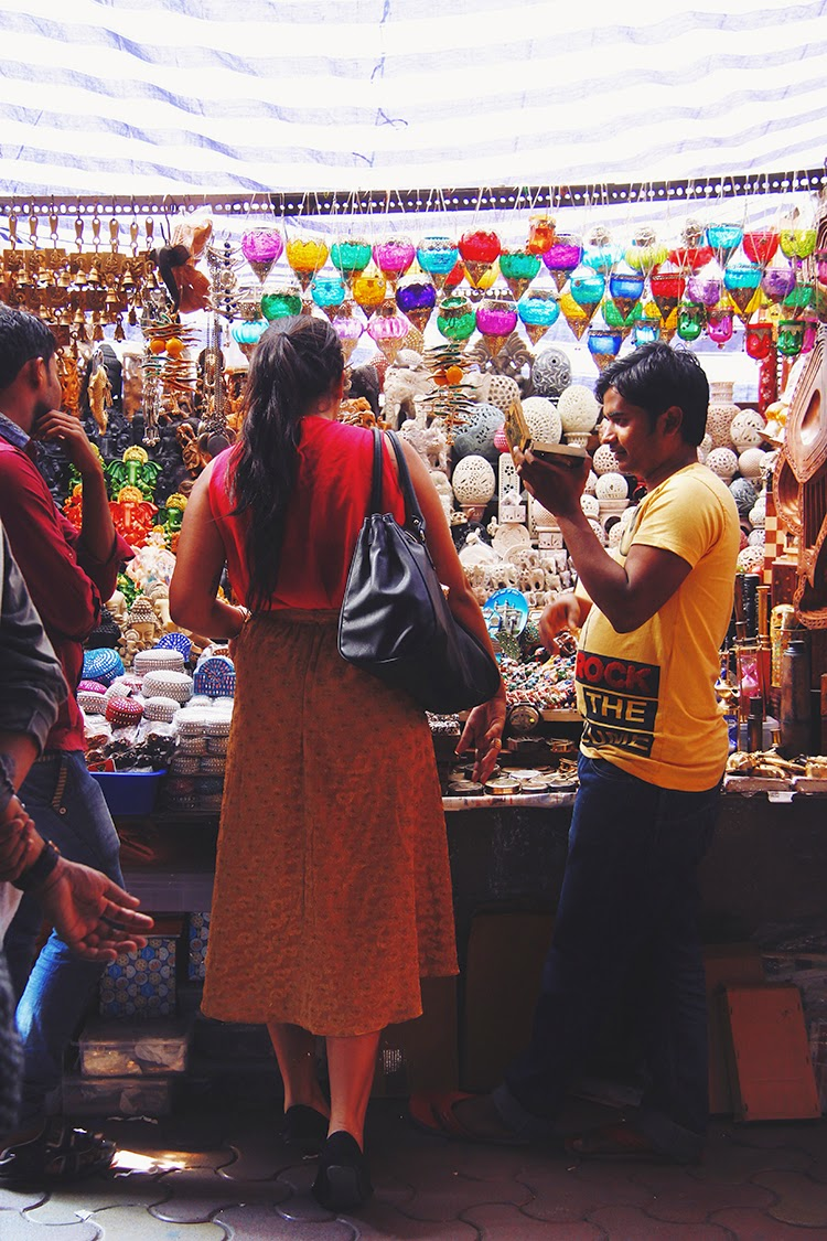 Colaba causeway shopping - lamps and articles
