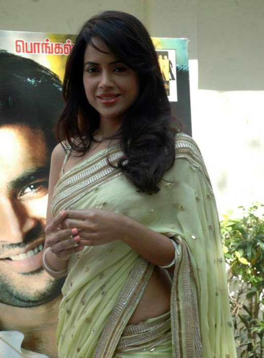 sameera reddy saree in vettai movie audio release actress pics