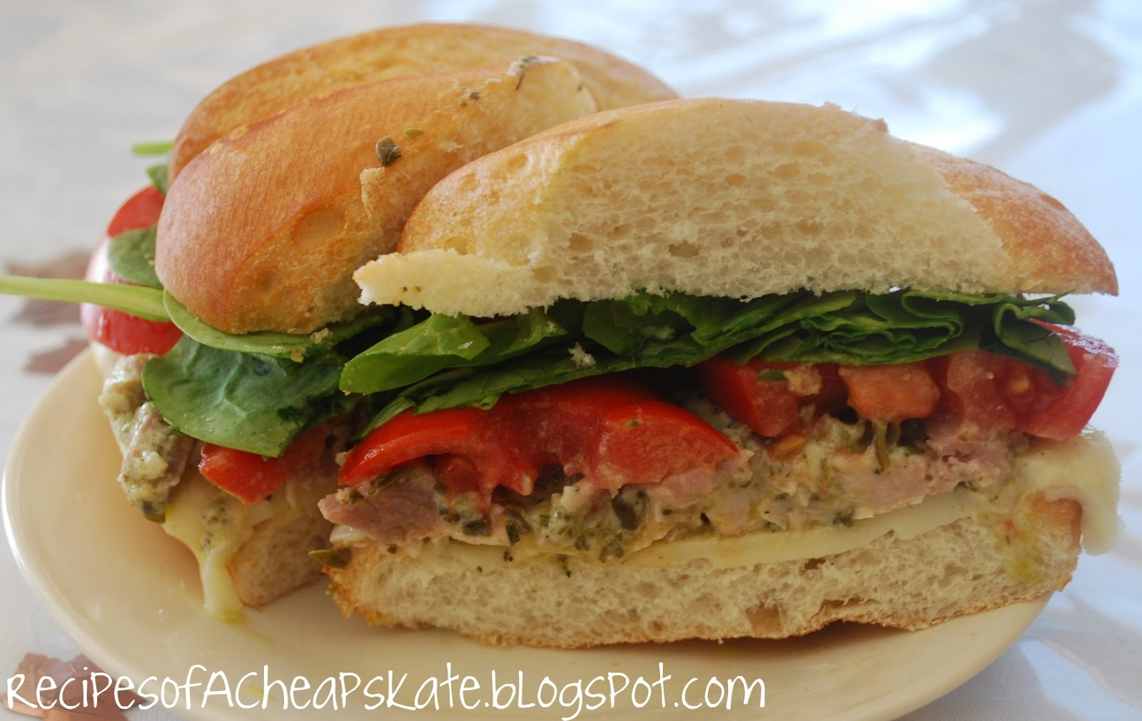 pesto turkey sandwiches