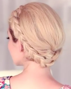 The Glammed up milkmaid braid - The full video tutorial here!