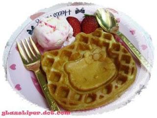 Hello Kitty waffle dessert