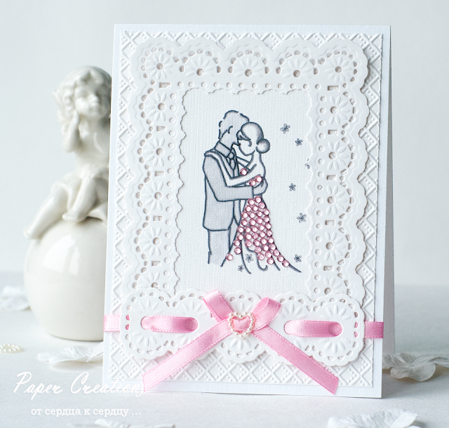 Floral Ribbon Threader card