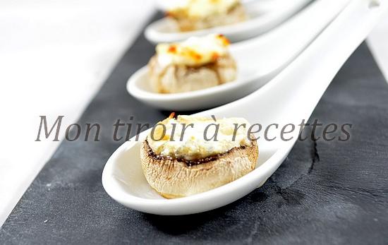 champignons apéritifs fromage