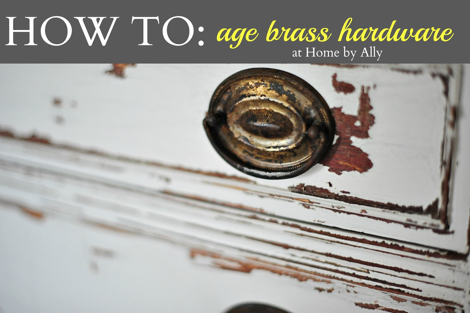 how to age brass home by ally. Black Bedroom Furniture Sets. Home Design Ideas