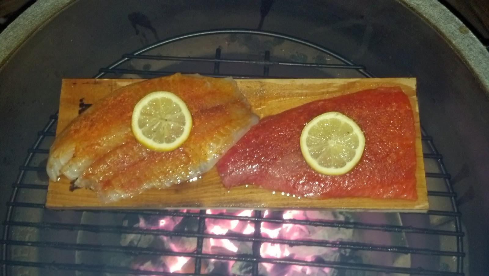Chris big green egg adventure cedar plank salmon tilapia cedar plank salmon tilapia ccuart Image collections