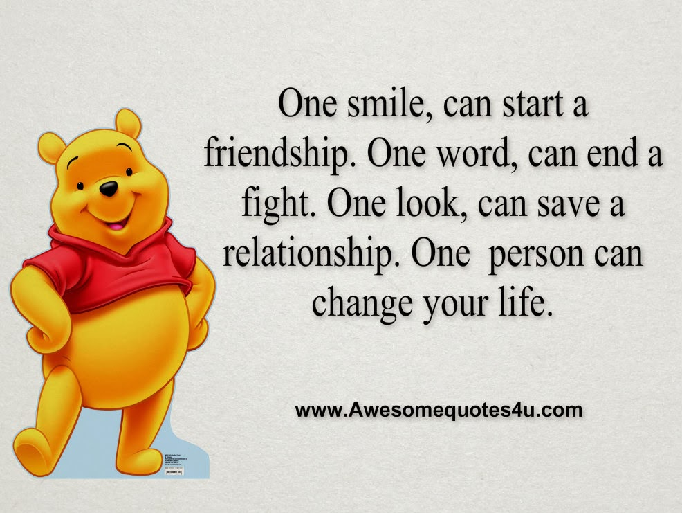 Awesome Quotes One Smile Can Start A Friendship