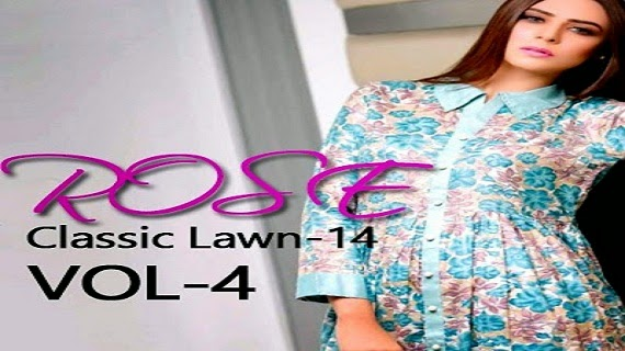Classic Rose Lawn Summer Dresses 2014