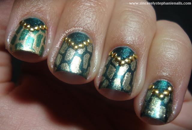 mash stamping nail art