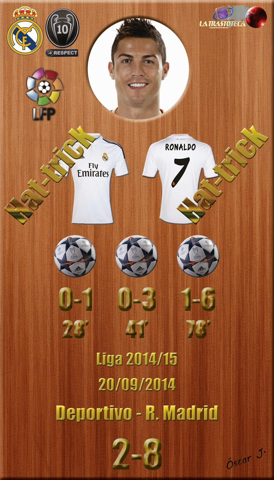 Cristiano Ronaldo (Hat-Trick) - Liga 2014/15. Jornada 4 (20/09/2014)
