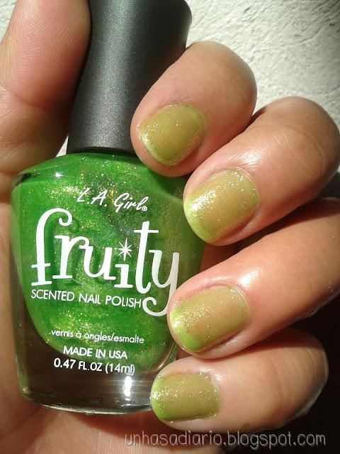 Uñas a diario: Esmaltes L.A. Girl colección fruity