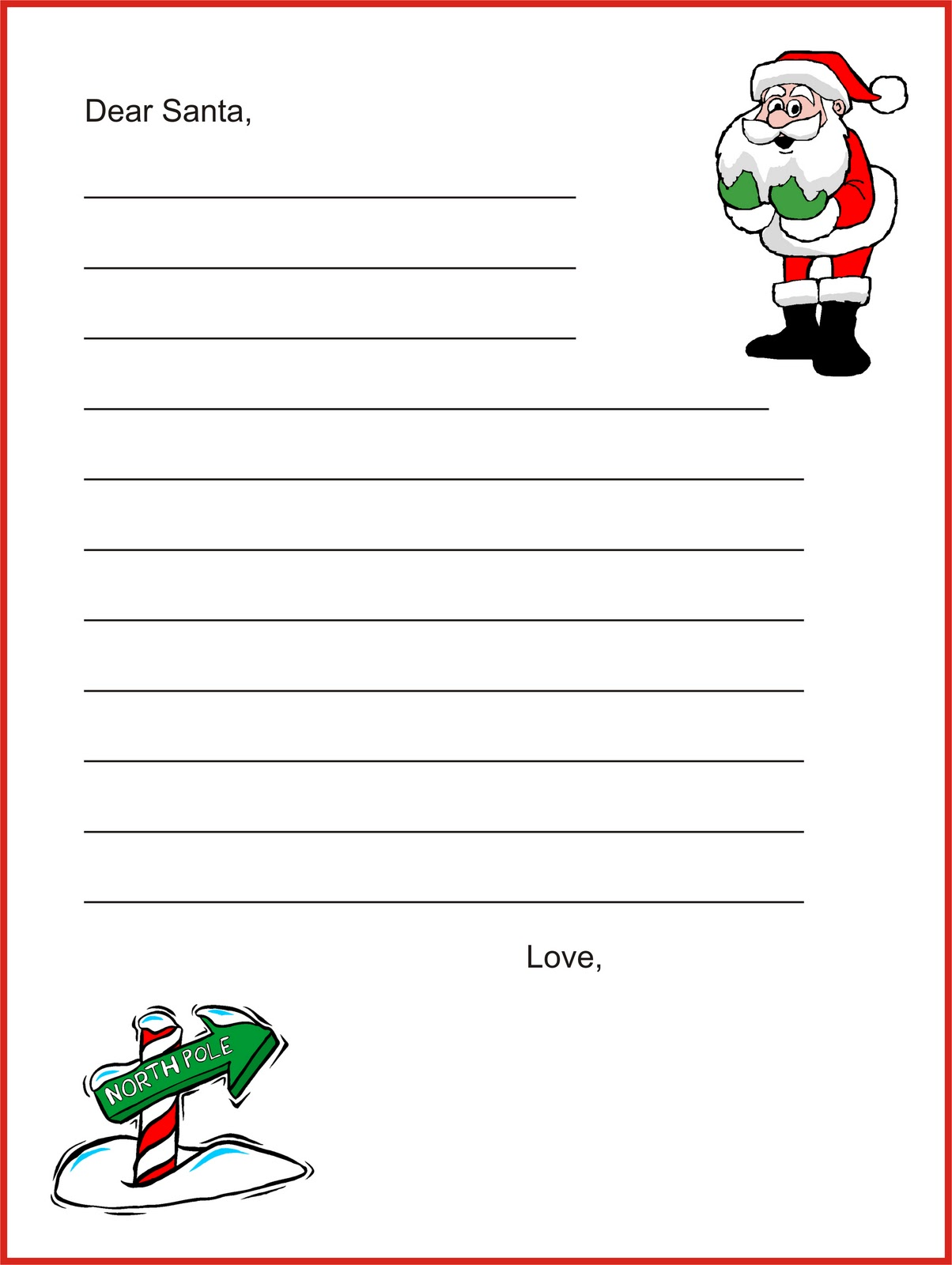 Santa Border For Letters Letters to santa ~ early