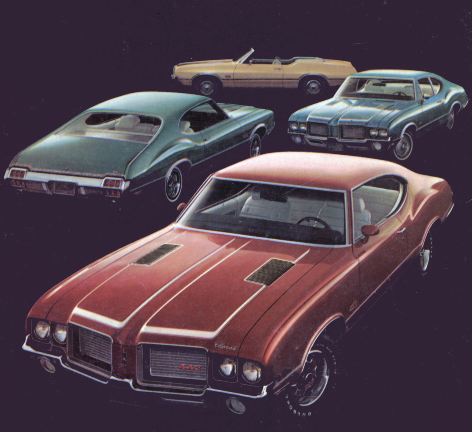 Olds kept the convertible 442 unlike pontiac their gto wide variety meant easy ways to buy one in 1972