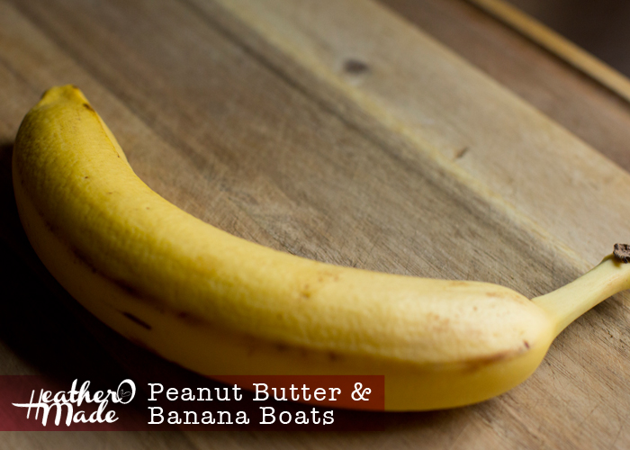Peanut Butter & Banana Boats. recipe. quick & easy breakfast.