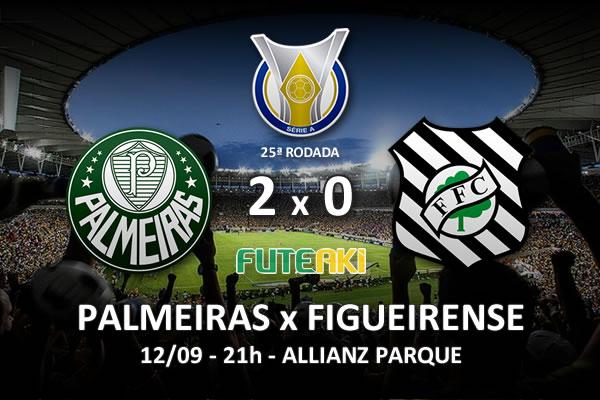 Veja o resumo da partida com os gols e os melhores momentos de Palmeiras 2x0 Figueirense pela 25ª rodada do Brasileirão 2015.