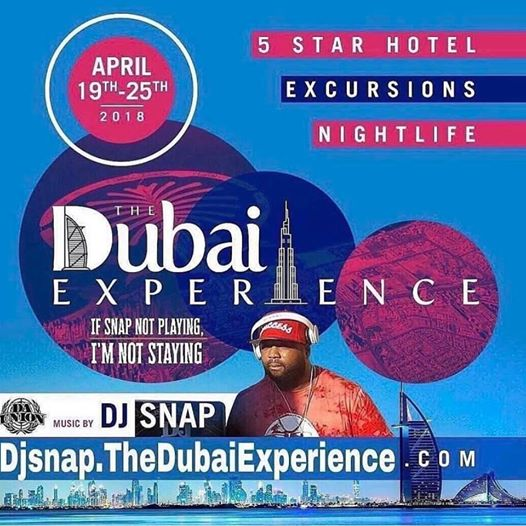 Come Dubai with me April19th-25th 2018