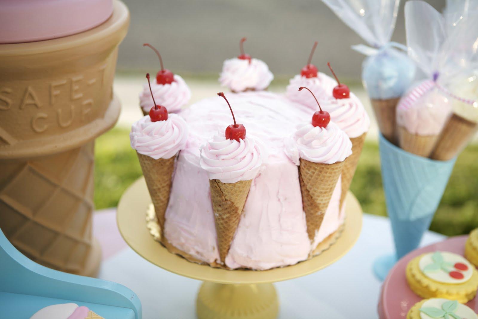 Karas Party Ideas Ice Cream Social  Summer, Vintage Ice