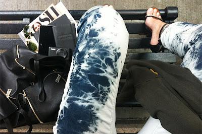 como fazer calça jeans manchada passo a passo