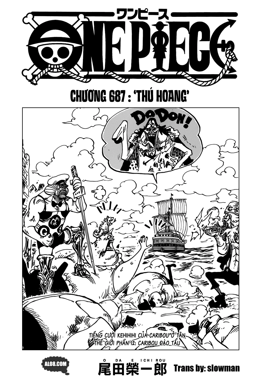 One Piece Chapter 687: Thú hoang 001