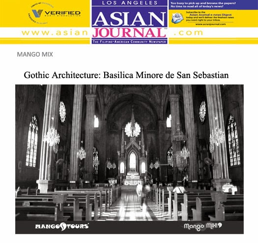 Mango Tours Asian Journal Mango Mix Gothic Architecture Basilica Minore de San Sebastian