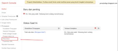 cara Submit Sitemap di Google Webmaster Tools
