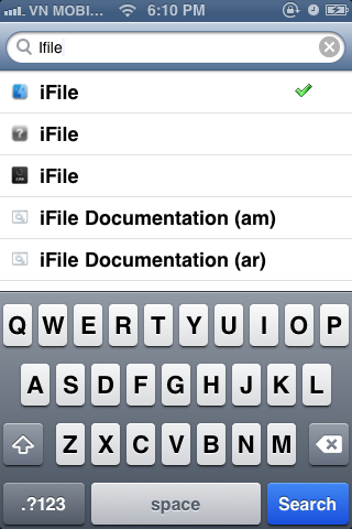 search iFile