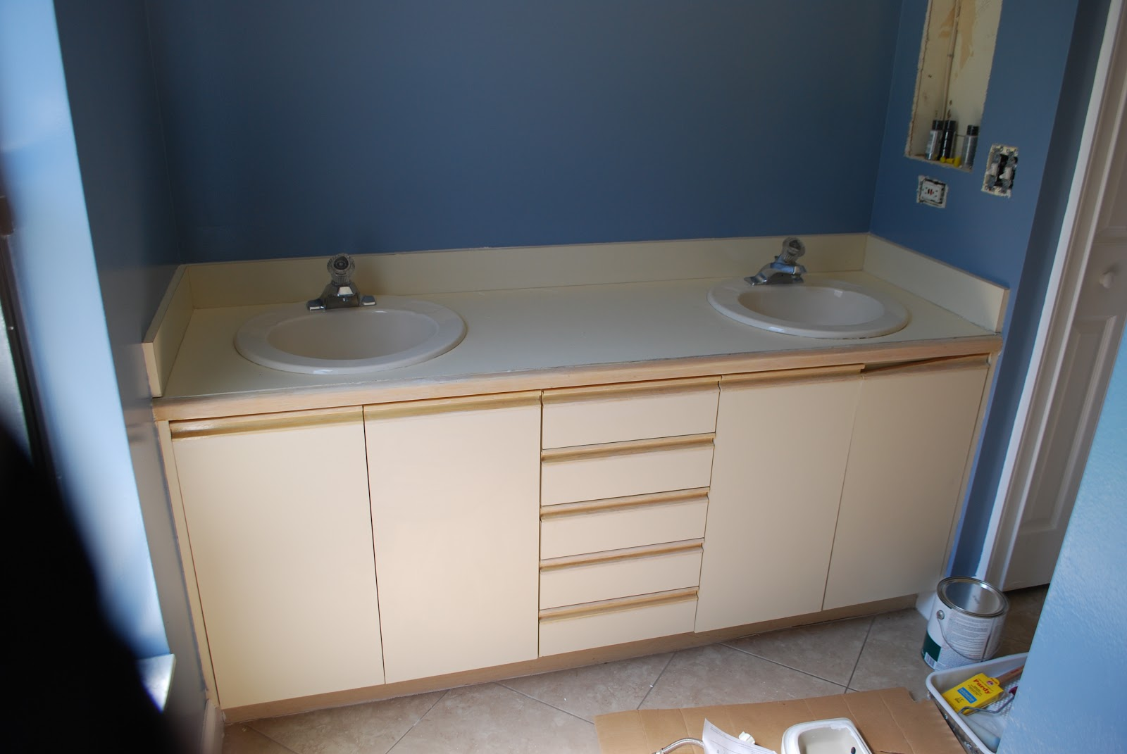 kara's korner: tutorial : how to paint bathroom countertops to