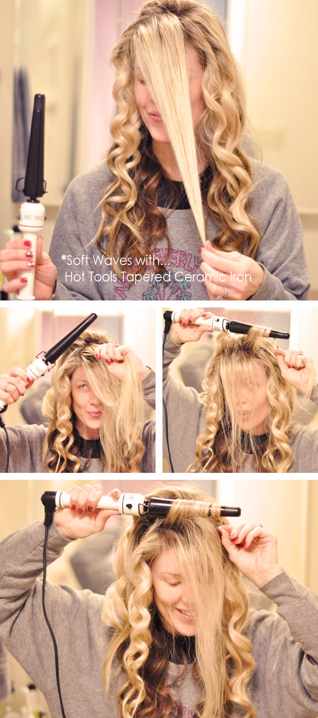soft beachy waves hair tutorial