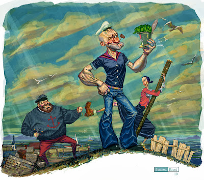 Spinach Alternative Art Popeye