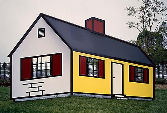 astelvio: Roy Lichtenstein\'s Optical Illusion House!