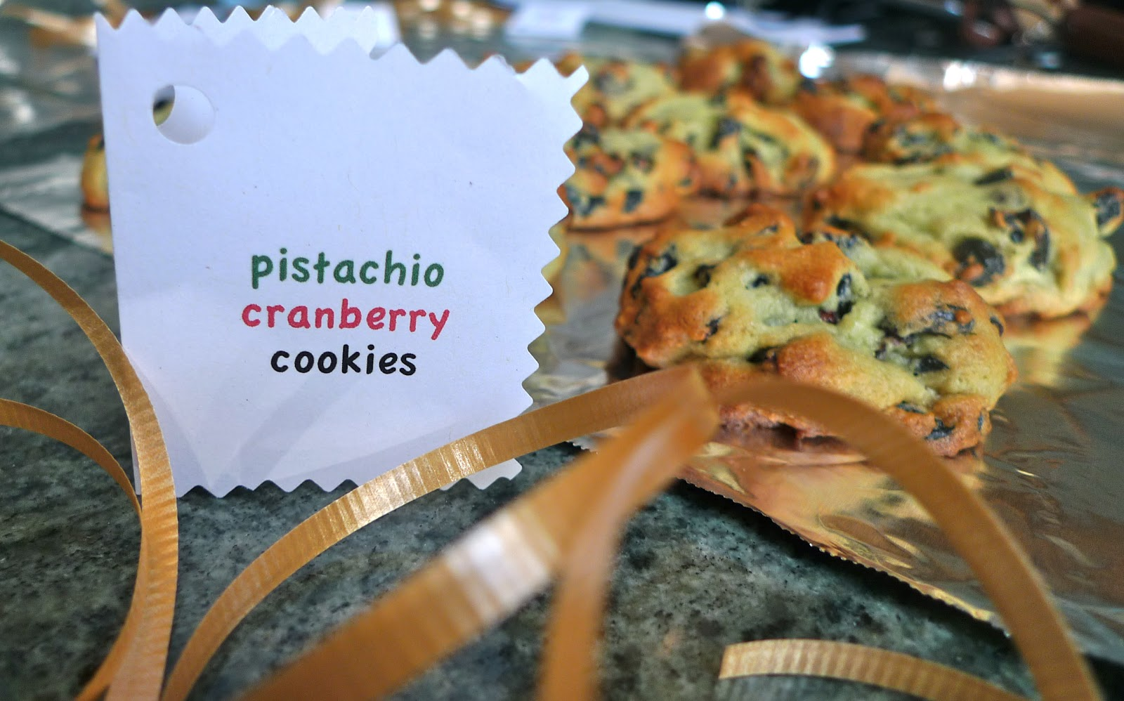 siriously delicious: Cranberry Pistachio Pudding Cookies