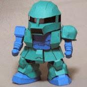 MS-05 ZAKU I Gundam Papercraft