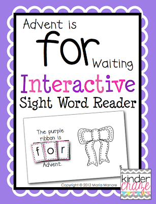 FREE! Advent is for Waiting Interactive Sight Word Reader